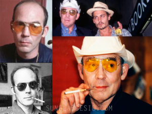 Hunter S. Thompson, here and there with aviator eyewear