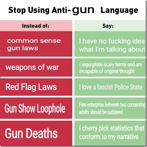 Anti-GunLanguage