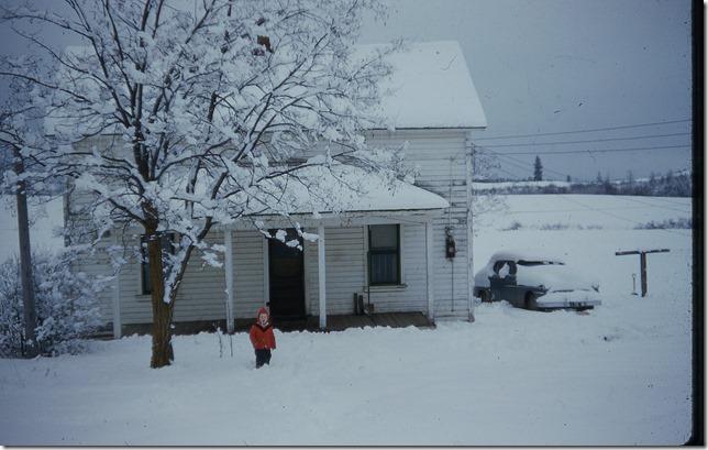 Joe at west side Wittman house winter 1958 - 1959