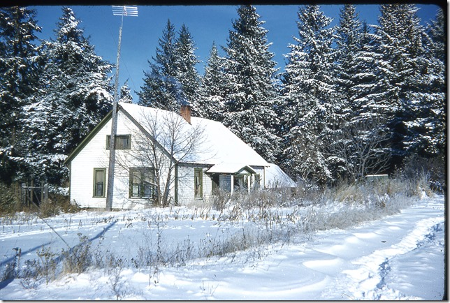 Old house in the winter time