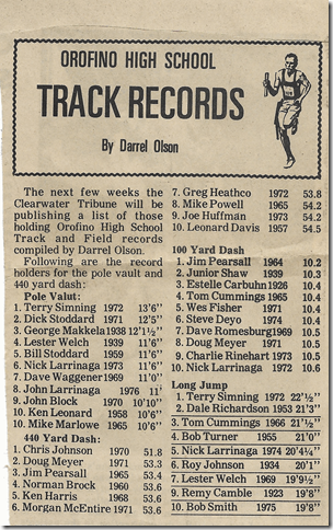 OrofinoHighSchoolTrackRecords